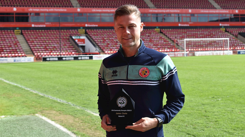 James Clarke PFA Community Player of the Year.