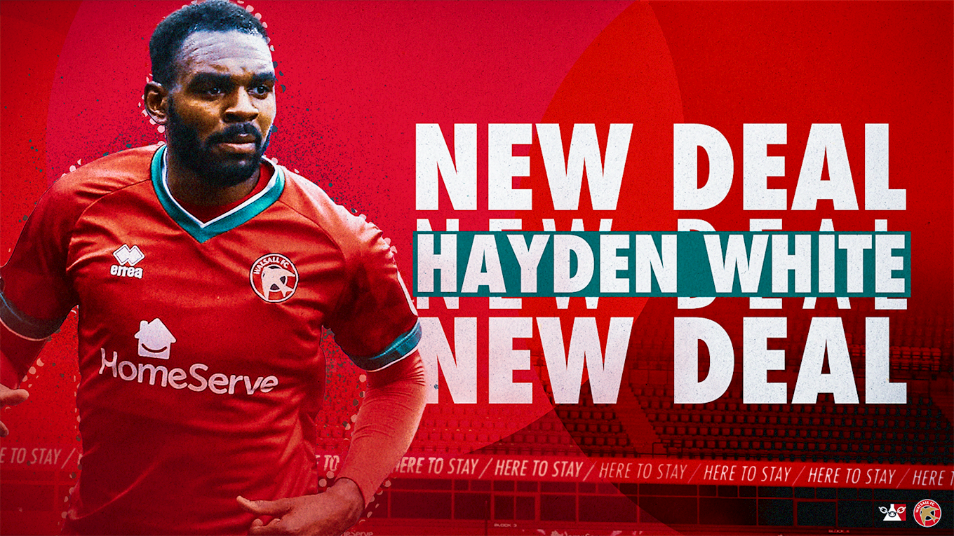 Hayden White has signed a new deal.