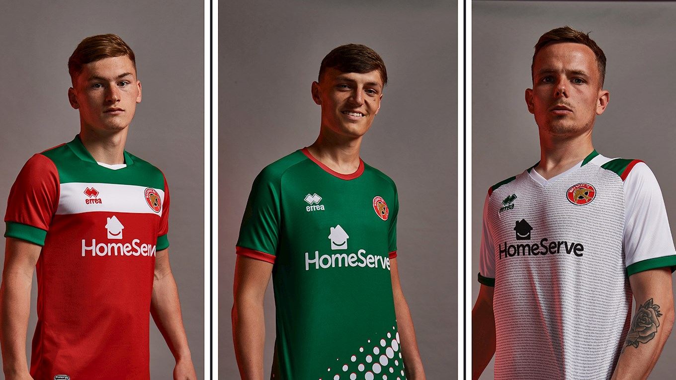 Walsall's 2021/22 kits have been unveiled.