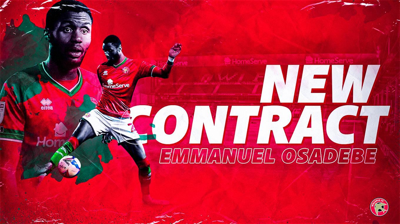 Emmanuel Osadebe pens a new deal.