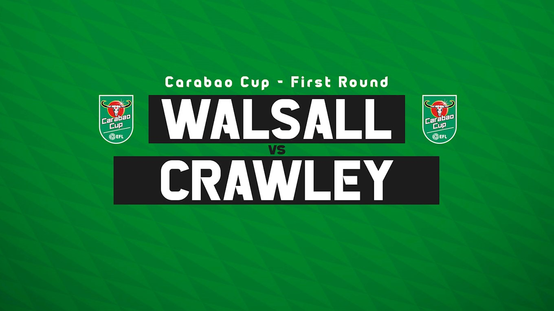 Carabao Cup: Crawley Town (H) - Fixture Details Confirmed
