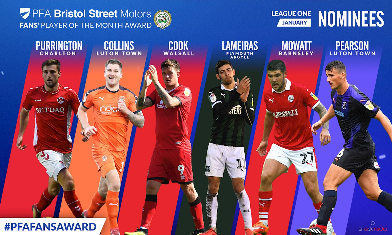 Andy Cook Shortlisted for PFA's January Player of the Month Award